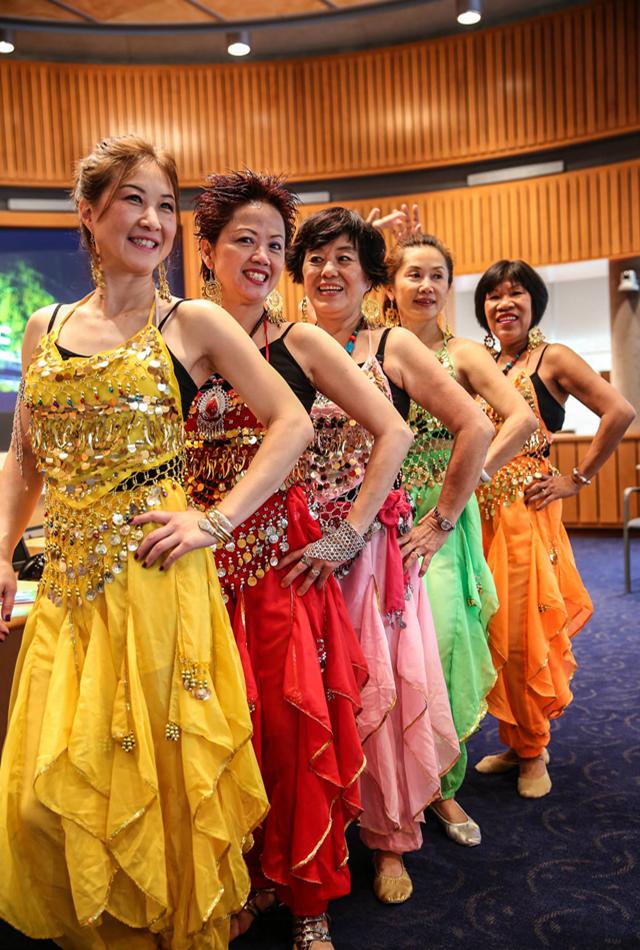 Those who sang `Made in India': (L-R) Vivian Chan, Irene Shum, Linda Dee, Marie Liu and Aida Bhargava