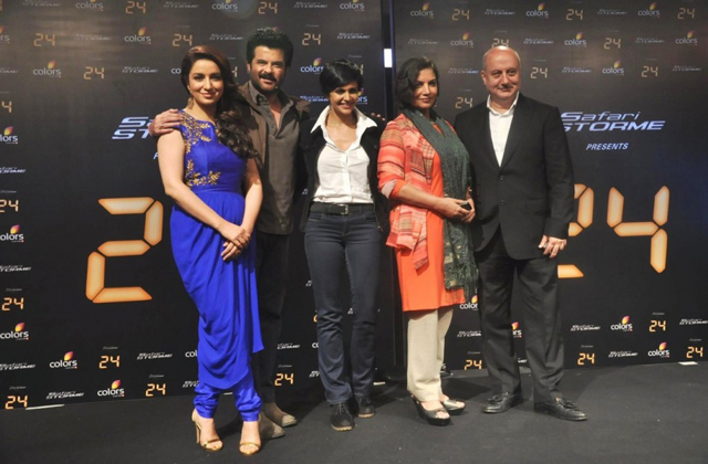 24 team-Tisca Chopra-Anil Kapoor-Mandira-Bedi-Shabana-Azmi-Anupam-Kher