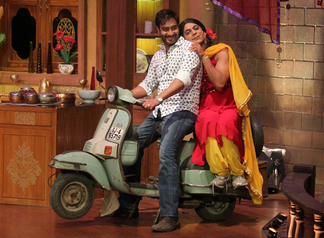 Gutthi with Ajay Devgn on Comedy Nights