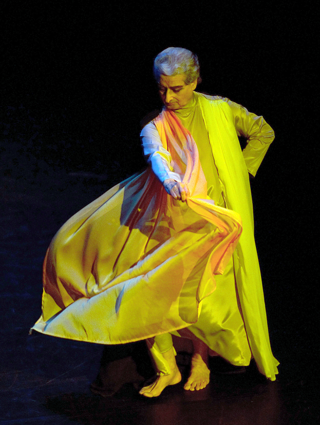 Janak, who performs as God, is seen in this photo performing in Kaal-Time from 2012. Photo by David Hou
