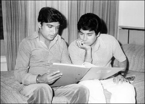 Salim (right) seen with Javed Akhtar in their younger days. The two have just patched after 32 years.