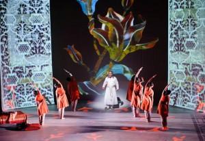 Kabir Bedi on stage as Shah Jehan