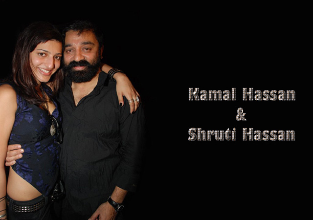 Kamal Haasan with daughter Shruti