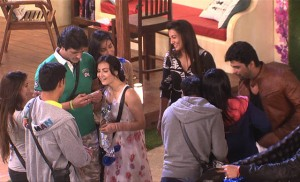 Kushal (extreme right) on his re-entry into Bigg Boss