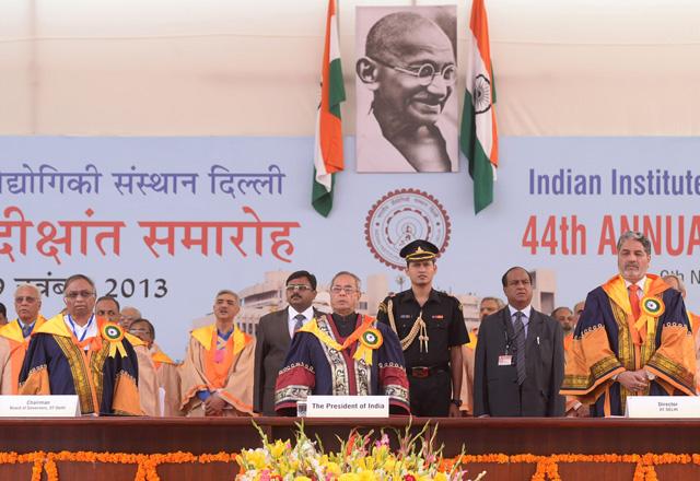 President Pranab Mukherjee at IIT Delhi convocation