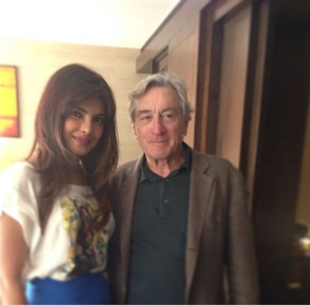 Priyanka with Robert de Niro