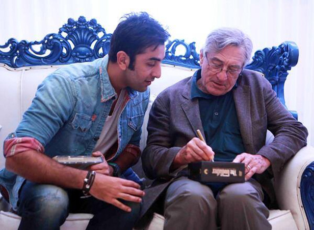 Ranbir Kapoor with Robert de Niro
