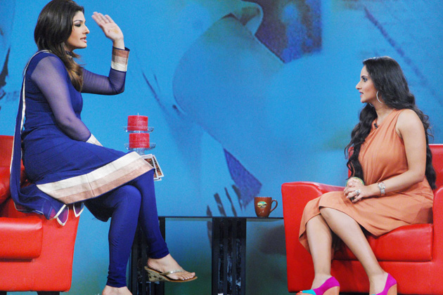Raveena Tandon (left) and Sania Mirza
