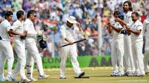 Team India saying goodbye to the Master