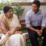 Lata Mangeshkar seen with Sachin