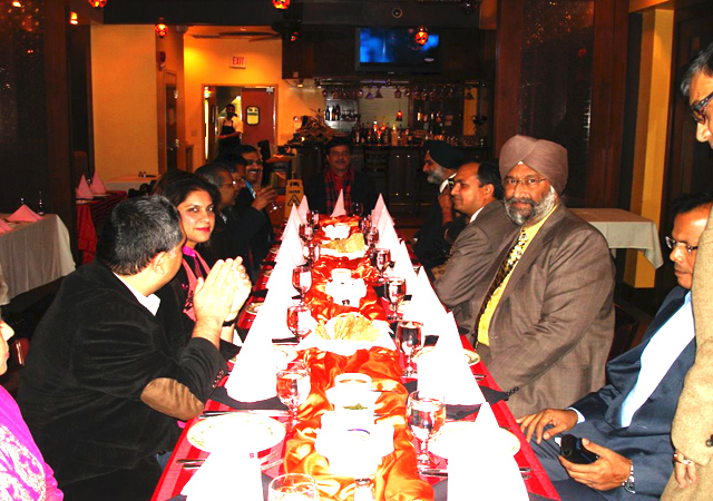 Shatrughan Sinha with the Chatwals and other guests