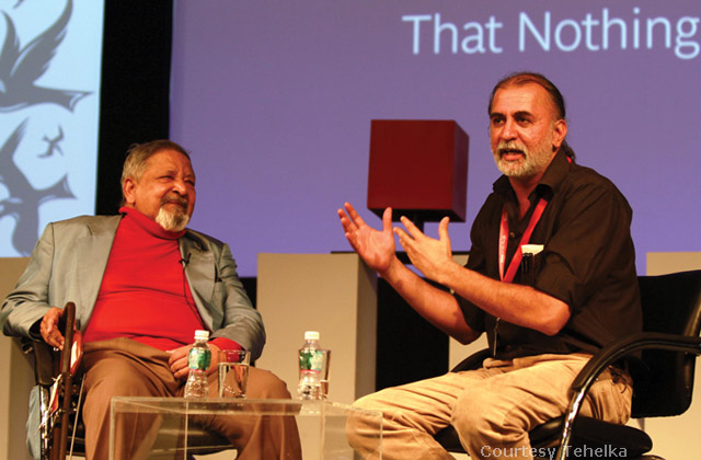 Tarun Tejpal with Nobel laureate VS Naipaul