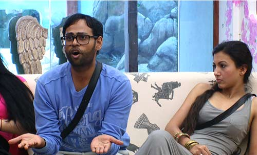 Andy and Gauhar Khan (right) disagree