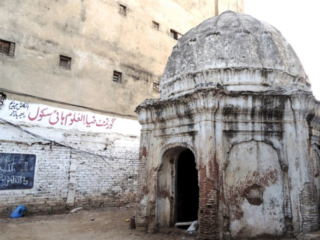 A temple in Rawalpindi in ruins