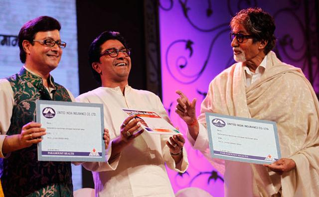 Amitabh with Raj Thackeray
