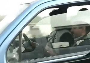 Arvind Kejriwal driving his Wagon R