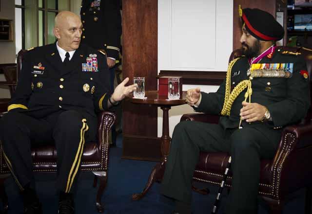 Gen Bikram Singh with US army chief Gen Raymond Odierno