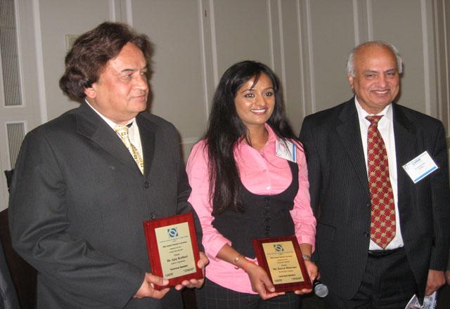 Ajay Kothari with awardees