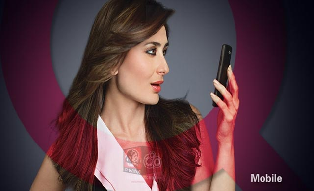 Kareena Kapoor shoots ad for Pakistan's QMobile