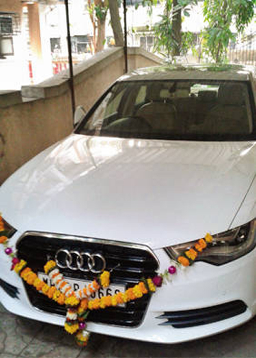 Brand-new Audi for Foram Ruparel