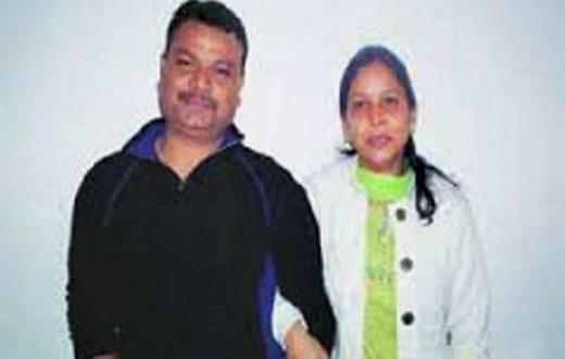 Sangeeta Richard with husband Phillip Richard