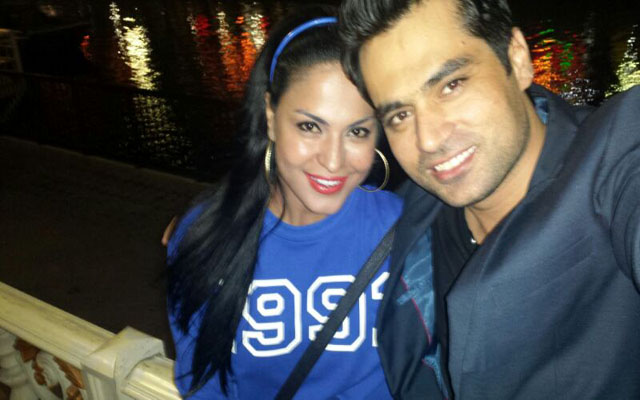 Veena Malik with her man