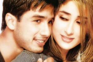 Shahid Kapoor and Kareena Kapoor when they were in love