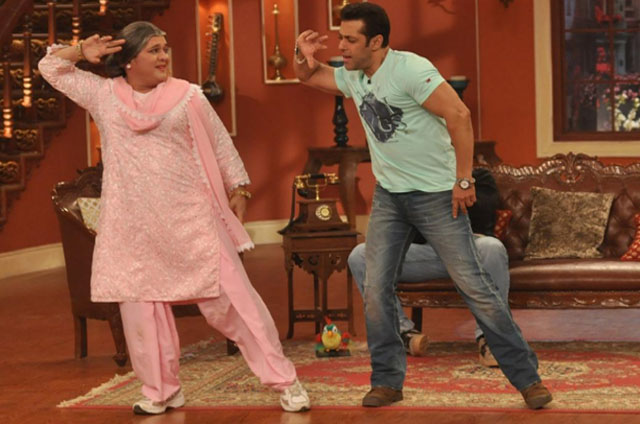ali asgar with salman khan on comedy nights