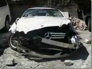 Crumpled car