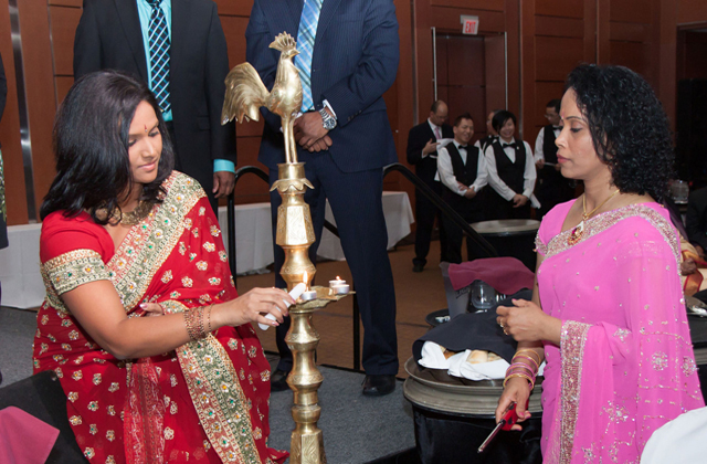 NDP MP Rathika Sitsabaiesan (left)