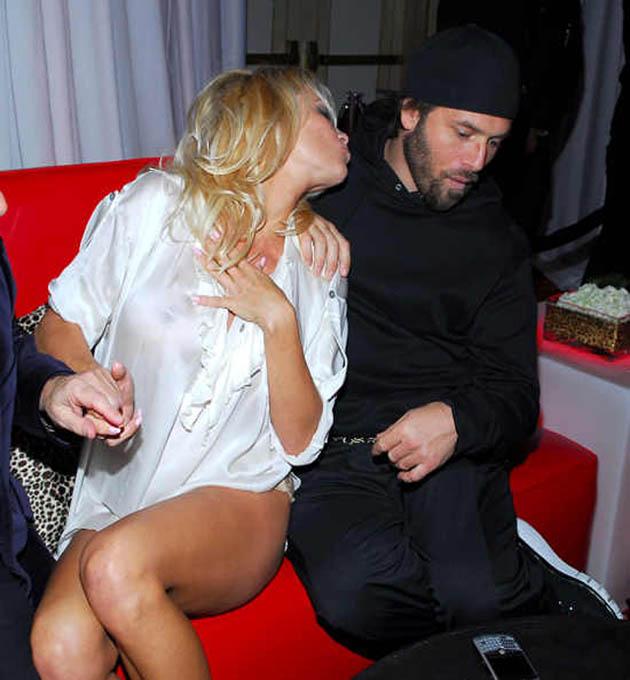 Pamela Anderson with Rick Salomon