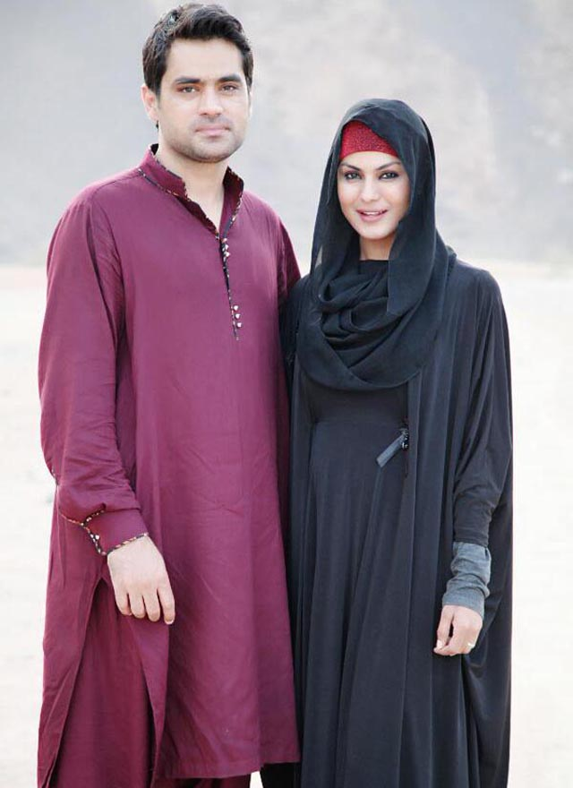 Veena and husband Asad Bashir Khan Khattak in Mecca.