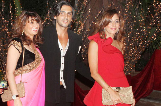 Zayed Khan with Sunanda Pushkar