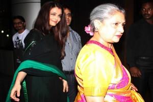 Aishwarya and Jaya Bachchan