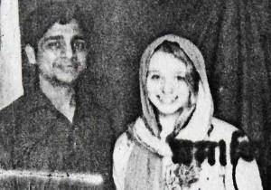 Erin Willinger seen with her husband Bunty Sharma