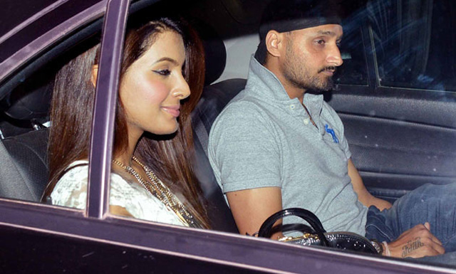 Harbhajan with girlfriend Geeta Basra