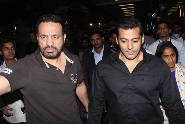 Salman Khan with bodyguard Shera