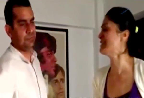 subhash Kapoor gets slapped by geetika tyagi