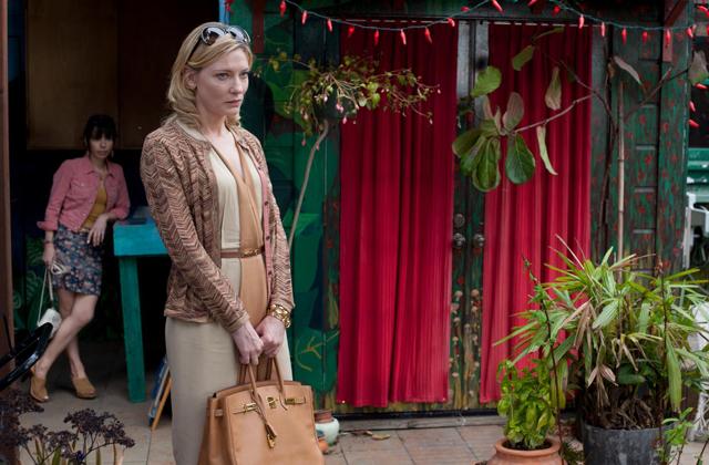 Cate Blanchette in blue jasmine