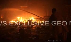 Hindu temple in Larkana, Pakistan, set on fire