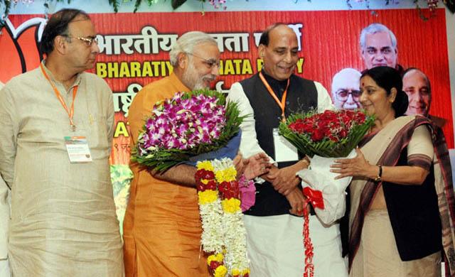 Jaitley, Modi, Rajnath