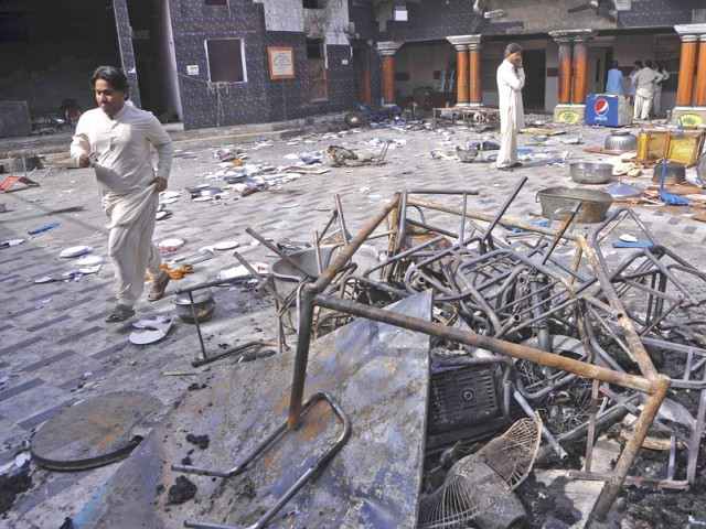 Ransacked Hindu temple