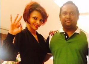 Sherlyn Chopra with Rupesh Paul