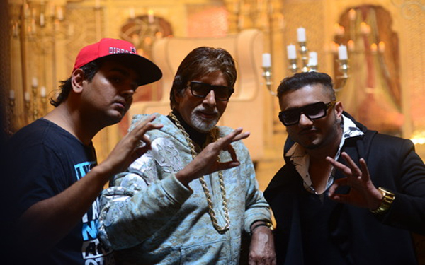 amitabh with yo yo honey singh
