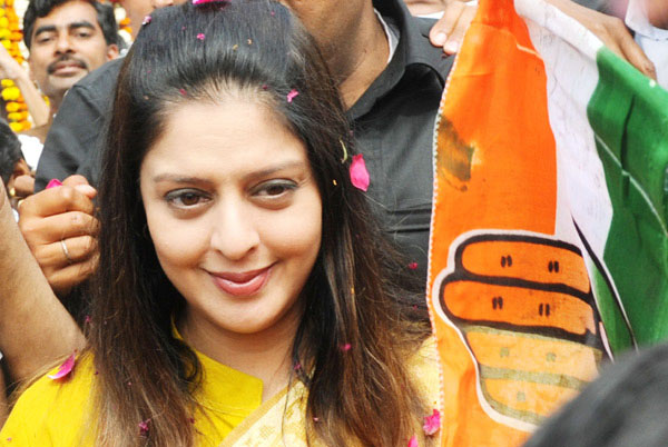 nagma as Congress candidate from Meerut