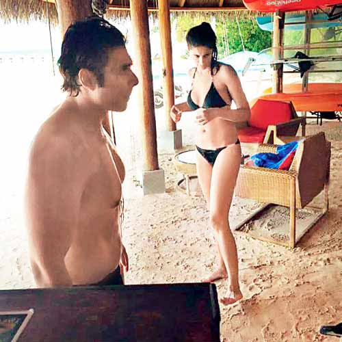 Nargis in bikini with Uday Chopra