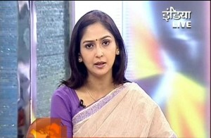 TV anchor Amrita Rai
