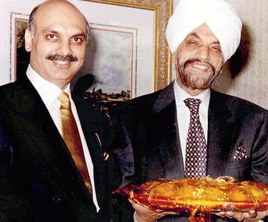 Bal Mohinder Singh (right) with son Jasminder