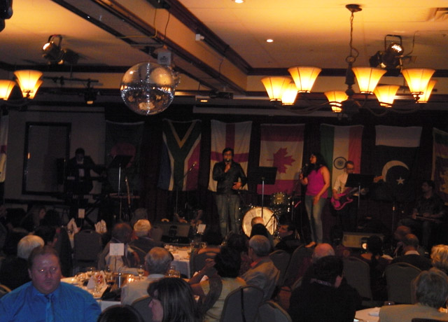 Raaga on the Rocks performing at the cricket gala in St Johns.