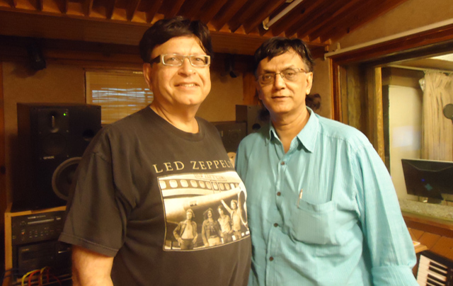 Nandu Bhende (right) with the author